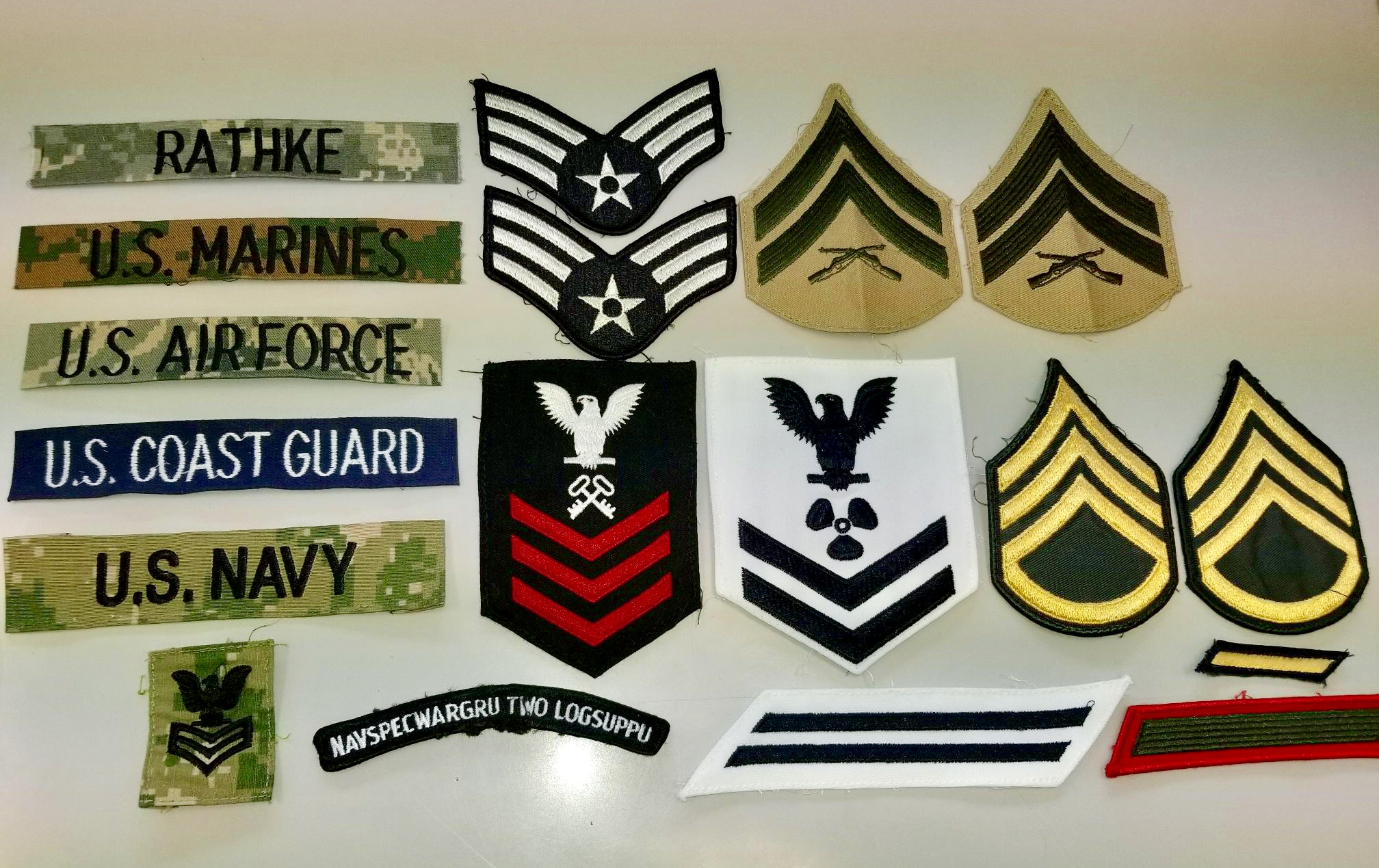 Military Tags and Patching